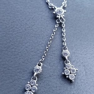 """New Ripka Sterling Lariat necklace 18-20"""""""